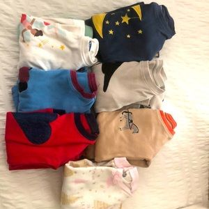 7 pair of 18-24/2T pajama sets